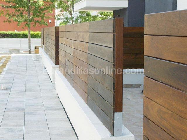 Barandillas de exterior y balcones barandilla bran - Barandilla madera exterior ...